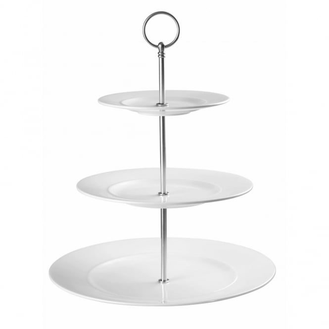 Churchill Alchemy Ambience Standard Rim 3 Tier Plates Tower Cake Stand 11