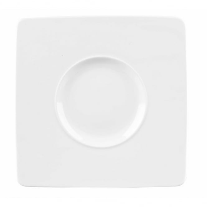 Churchill Alchemy Ambience Wide Rim Square Plates 8.25