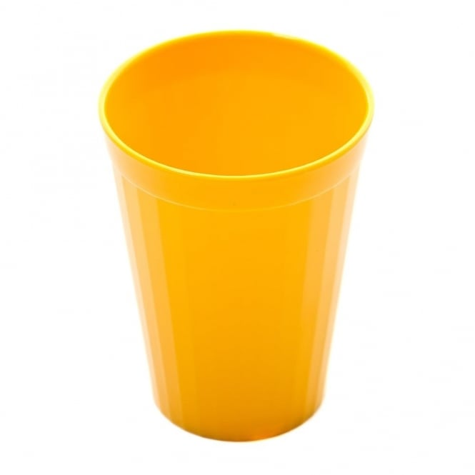 Harfield Yellow Polycarbonate Plastic Fluted Tumbler 150ml