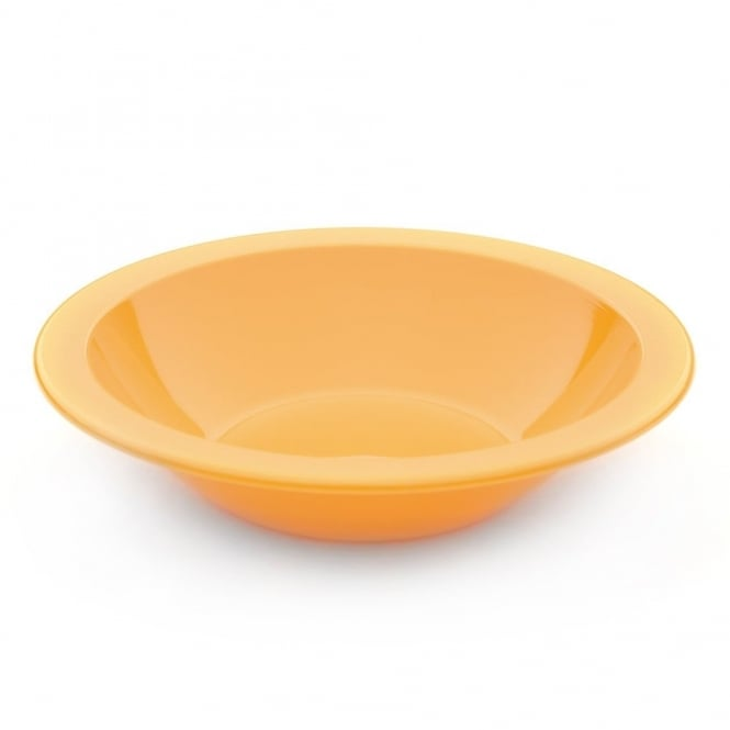 Harfield Yellow Polycarbonate 17.3cm Narrow Rimmed Bowl