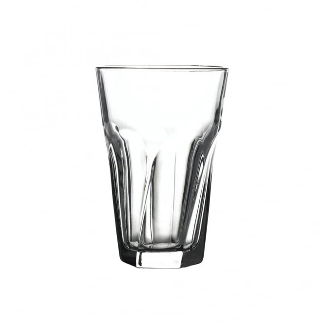 Libbey Gibraltar Twist Beverage Tumbler Glass 350ml | CE Lined 1/2 Pint | Pack of 12