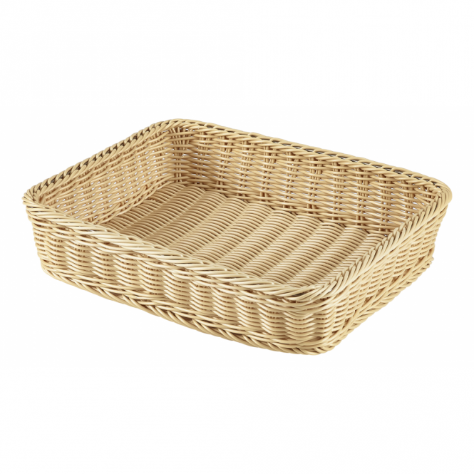Genware GN 1/2 Polywicker Display Basket 32cm x 26cm x 7cm