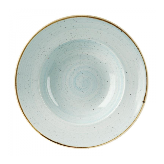 Churchill Stonecast Wide Rim Bowl 468ml 28cm - Duck Egg Blue | Pack of 12