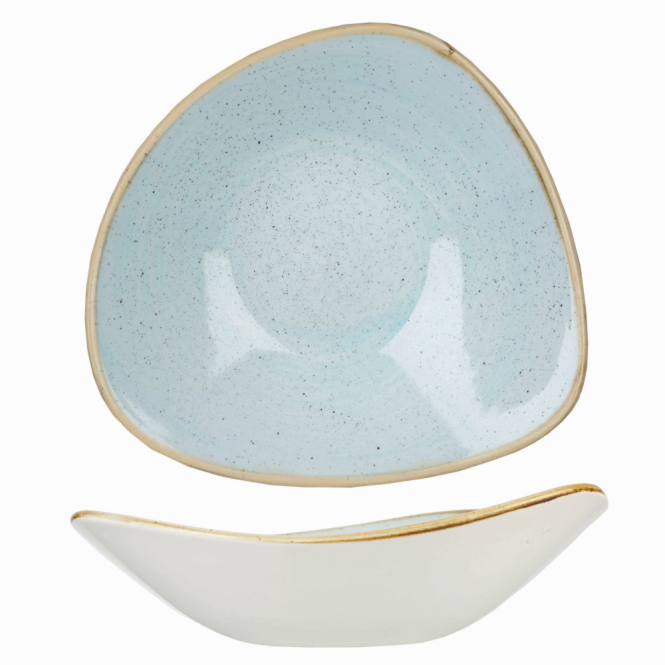 Churchill Stonecast Triangle Bowl 370ml 13oz - Duck Egg Blue | Pack of 12