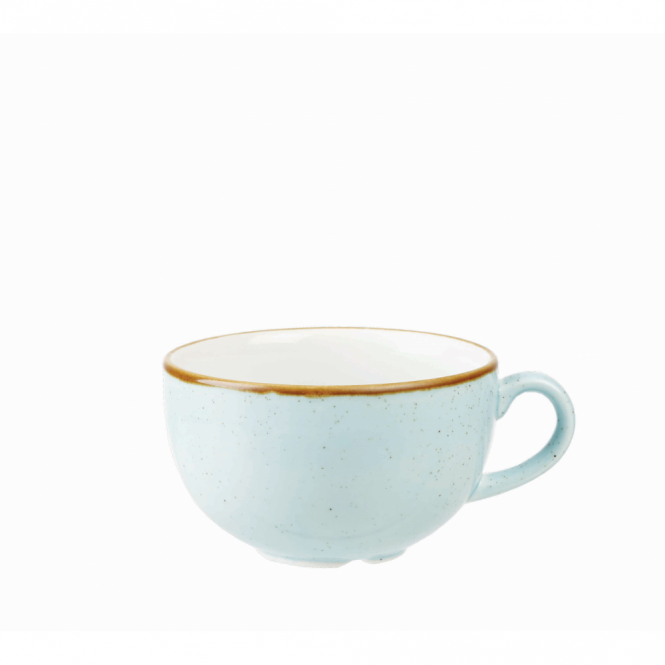 Churchill Stonecast Cappuccino Cup 460ml 16oz - Duck Egg Blue | Pack of 6