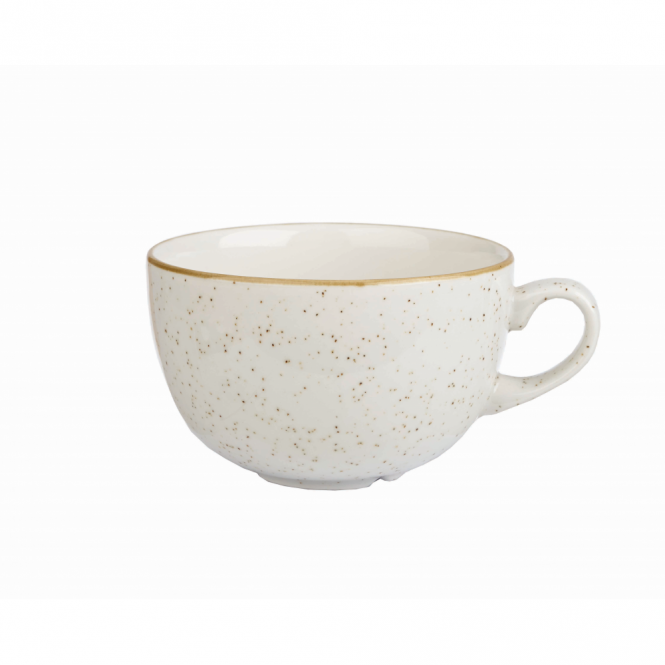 Churchill Stonecast Cappuccino Cup 227ml 8oz - Barley White | Pack of 12