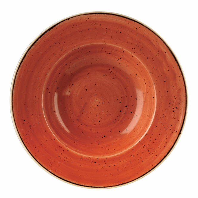 Churchill Stonecast Wide Rim Bowl 468ml 28cm - Spiced Orange | Pack of 12