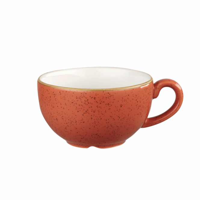 Churchill Stonecast Cappuccino Cup 227ml 8oz - Spiced Orange | Pack of 12