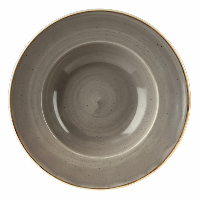 Churchill Stonecast Wide Rim Bowl 468ml 28cm - Peppercorn Grey | Pack of 12