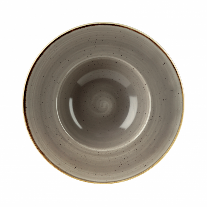 Churchill Stonecast Wide Rim Bowl 284ml 24cm - Peppercorn Grey | Pack of 12
