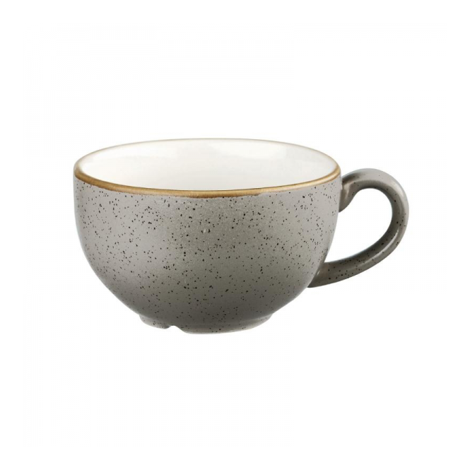 Churchill Stonecast Cappuccino Cup 340ml 12oz - Peppercorn Grey | Pack of 12