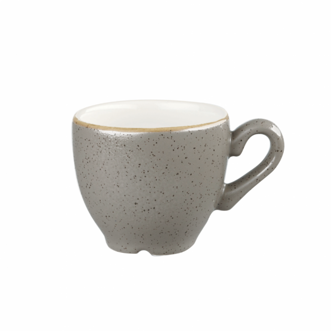 Churchill Stonecast Espresso Cup 100ml 3.5oz - Peppercorn Grey | Pack of 12