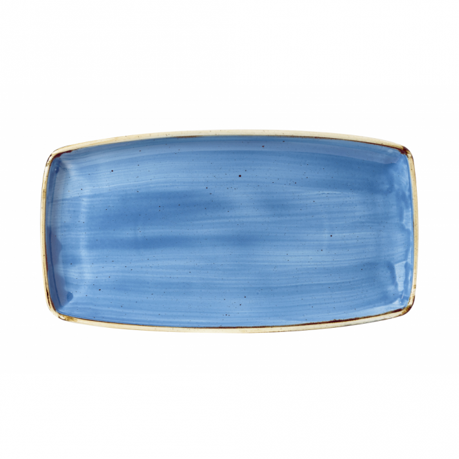 Churchill Stonecast Oblong Plate 35cm x 18.5cm - Cornflower Blue | Pack of 6