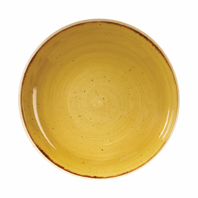 Churchill Stonecast Coupe Bowl 1.1 Litre 24.8cm - Mustard Seed Yellow | Pack of 12