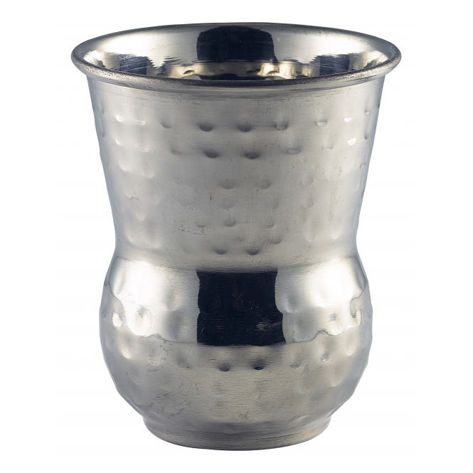 Genware Stainless Steel Moroccan Hammered Tumbler 400ml 14oz