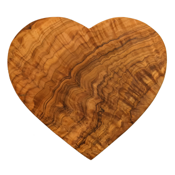 Crosbys Heart Shaped Olive Wood Presentation Board 22cm