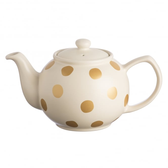 Price & Kensington Gold Spot Cream 6 Cup Teapot | Pack of 3