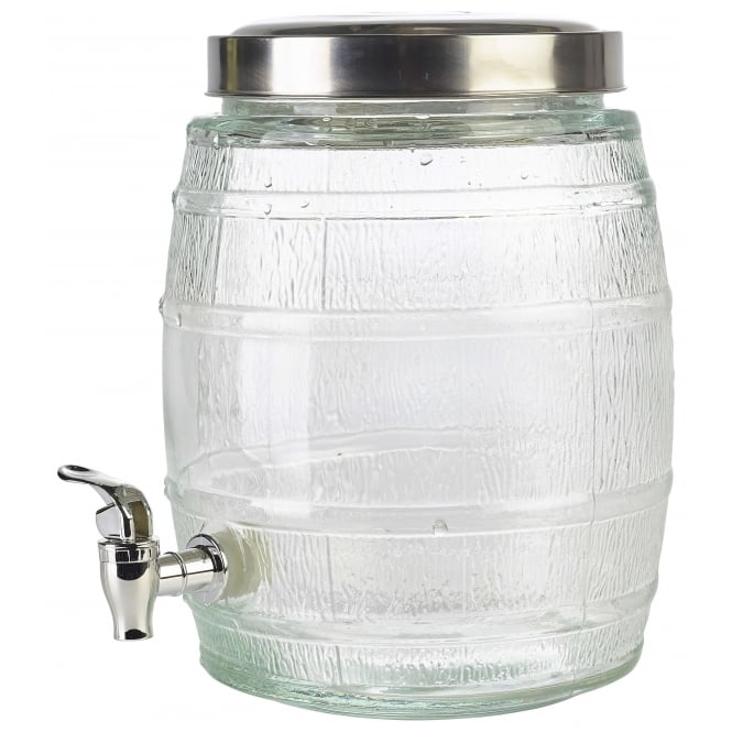 Genware 8 Litre Glass Punch Barrel with Tap