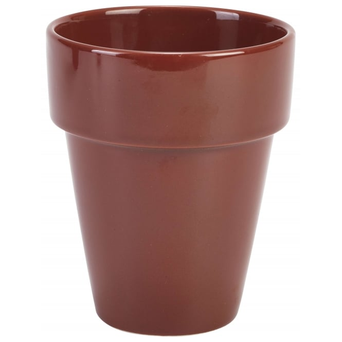 Royal Genware Terracotta Plant Pots Tall 500ml 17.5oz | Pack of 4