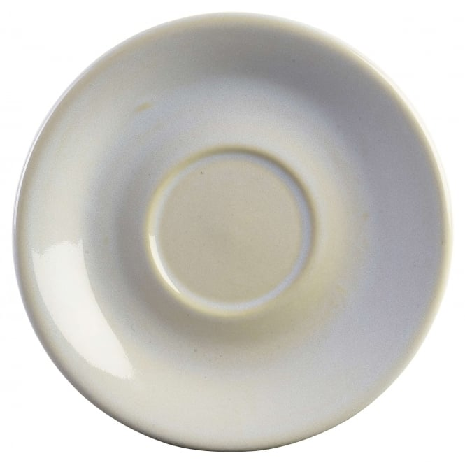 Genware White Rustic Saucer | Pack of 12