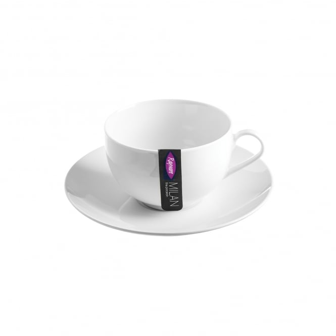 Milan White Cup and Saucer | Pack of 48