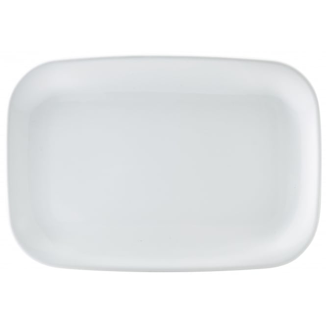 Royal Genware Rectangular Rounded Edge Plate 35.3cm x 24.2cm | Pack of 3