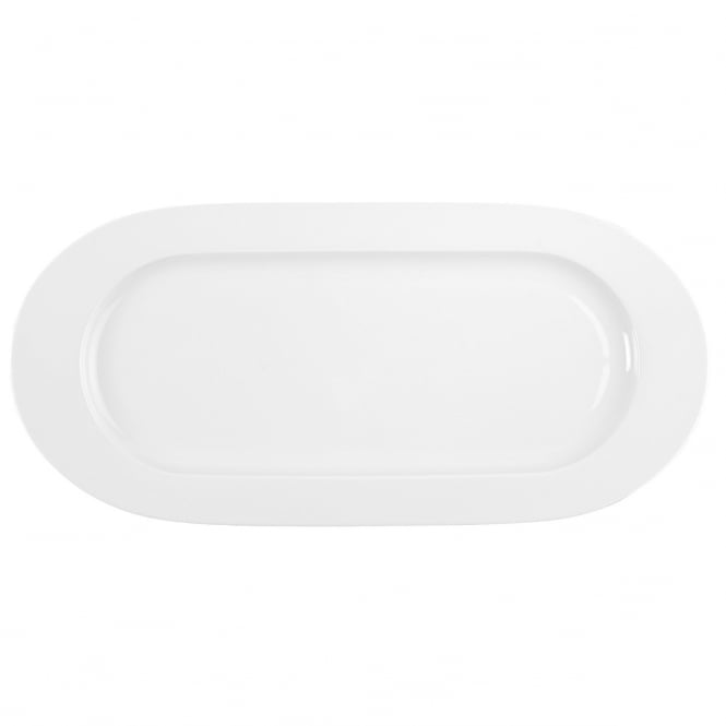 Degrenne Paris Boréal - Fine Dining - Wide Rim Oval Long Dish - Plat A Cake | White | 40.5cm x 19cm