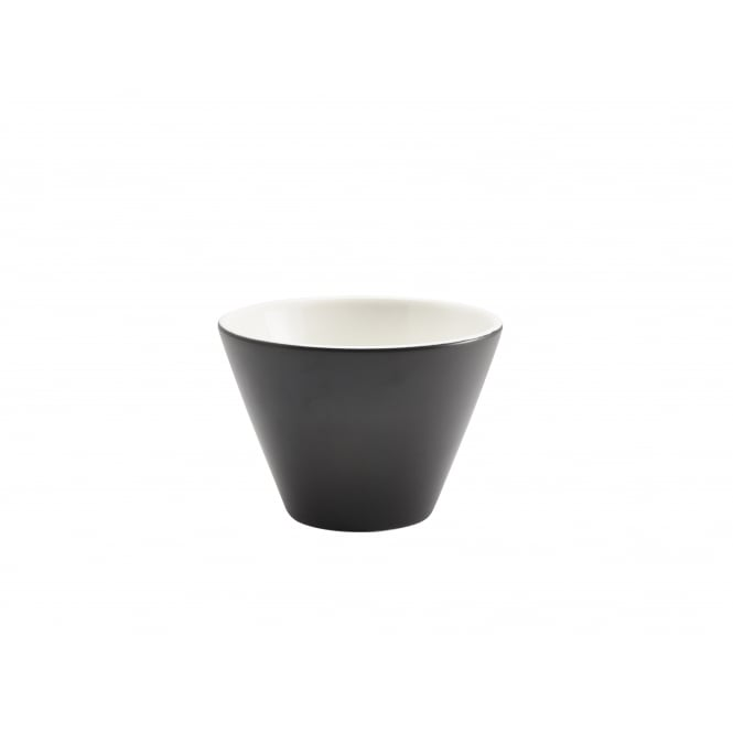 Genware Matt Conic Bowl 400ml - 12 x 8.3cm | Black