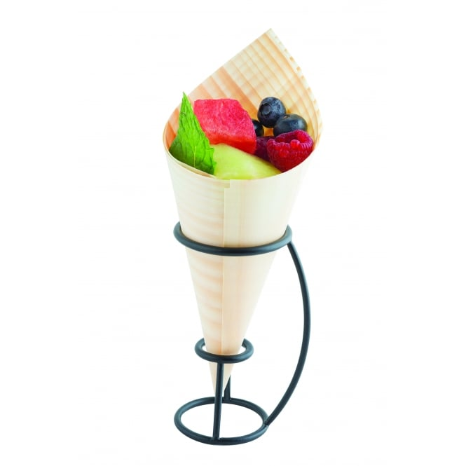 Tablecraft DCH01 Disposable Cone Holder, Black Powder Coated Metal 10 x 6 x 7cm
