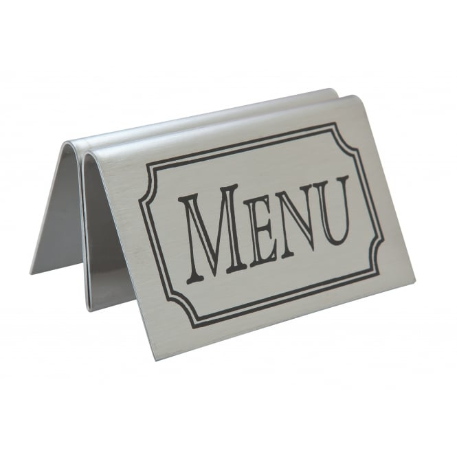 Beaumont Stainless Steel Tent Type Menu Holder