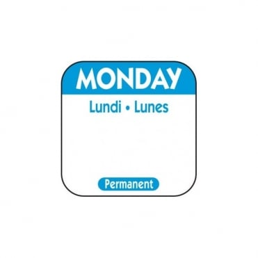 Disposable Monday Day Label