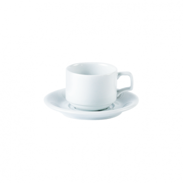 Stacking Cup and Double Well Saucer 200ml 7oz | Pack of 6