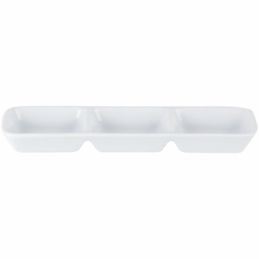 Three Division Dip Tray 20cm | Pack of 6