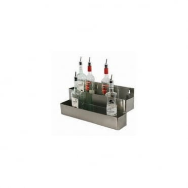 Speed Rack. Stainless Steel. 10 Bottle Double. L537mm