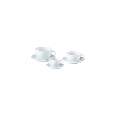 Bowl Shape Cups and Saucers 440ml 16oz | Pack of 6
