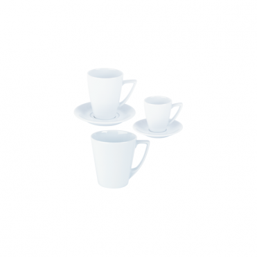 Napoli Mugs and Double Well Saucer 340ml | Pack of 6