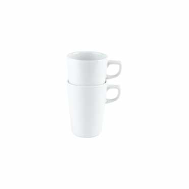Conical Stacking Mug and Saucer 340ml | Pack of 6