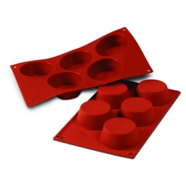 Silicone Muffin Mould - 5 Large Muffins