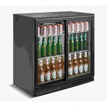 Backbar Sliding Door Bottle Cooler | 2 Door