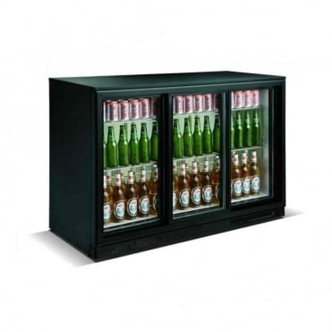Backbar Sliding Door Bottle Cooler | 3 Door