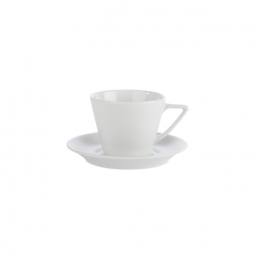Conic Espresso Cup and Saucer 90ml | Pack of 6