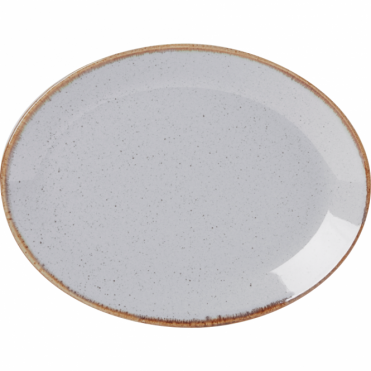 Seasons Stone 30cm Oval Plate | Pack of 6