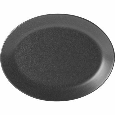 Seasons Graphite 30cm Oval Plate | Pack of 6