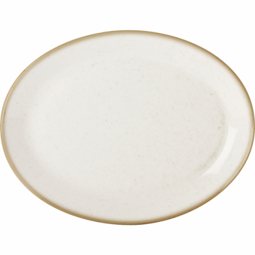 Seasons Oatmeal 30cm Oval Plate | Pack of 6