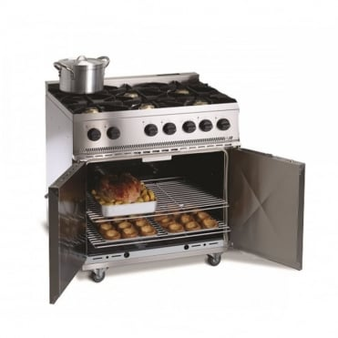 6 Burner Gas Range Oven with 2 Door Oven