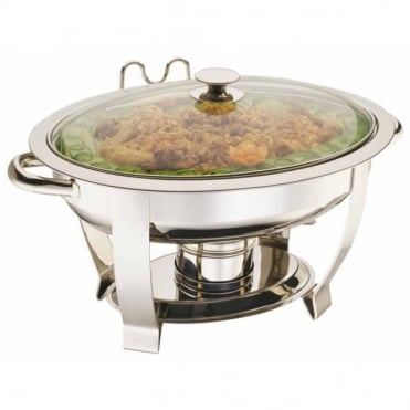 Standard Oval Chafing Dish with Glass Lid