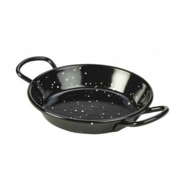 Black Enamel Paella Pans 10cm | Pack of 10