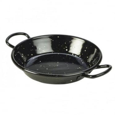 Black Enamel Paella Pans 12cm | Pack of 10