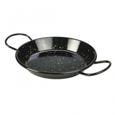 Black Enamel Paella Pans 15cm | Pack of 10
