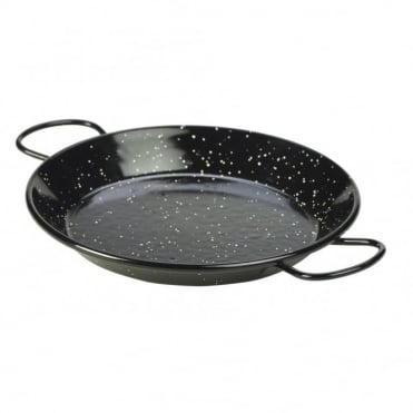Black Enamel Paella Pans 20cm | Pack of 10